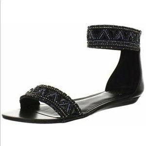 Vince Camuto Embellished Black Roka Sandals
